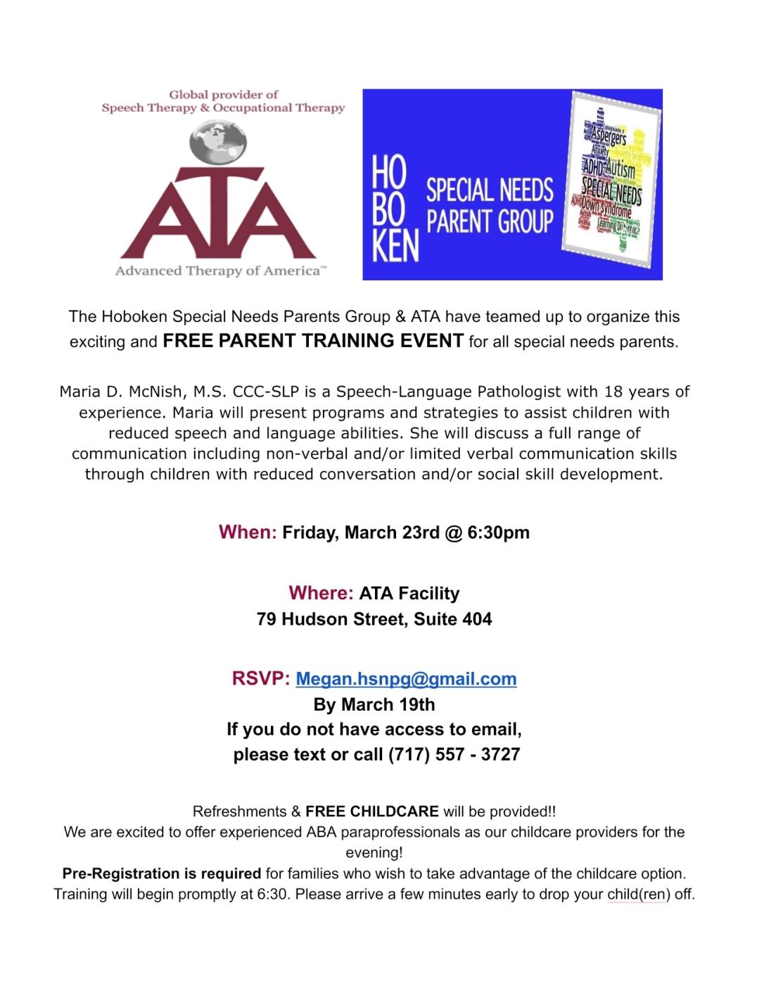 ATA Parent Training - Feb18