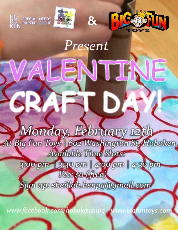 valentine craft day