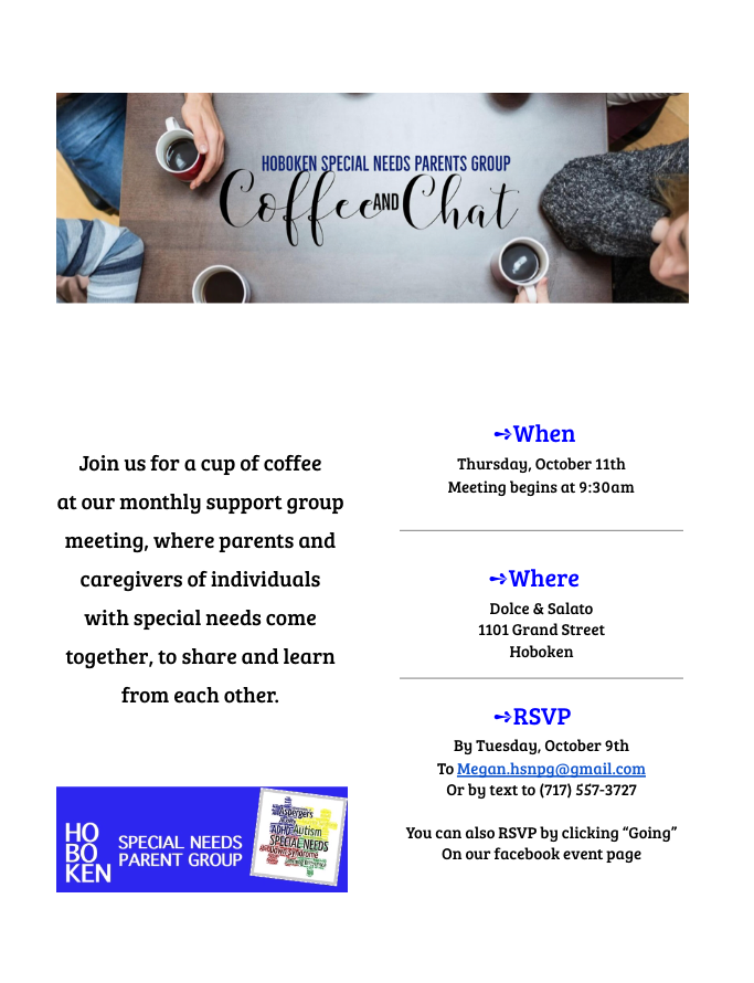 Coffee & Chat - October 18