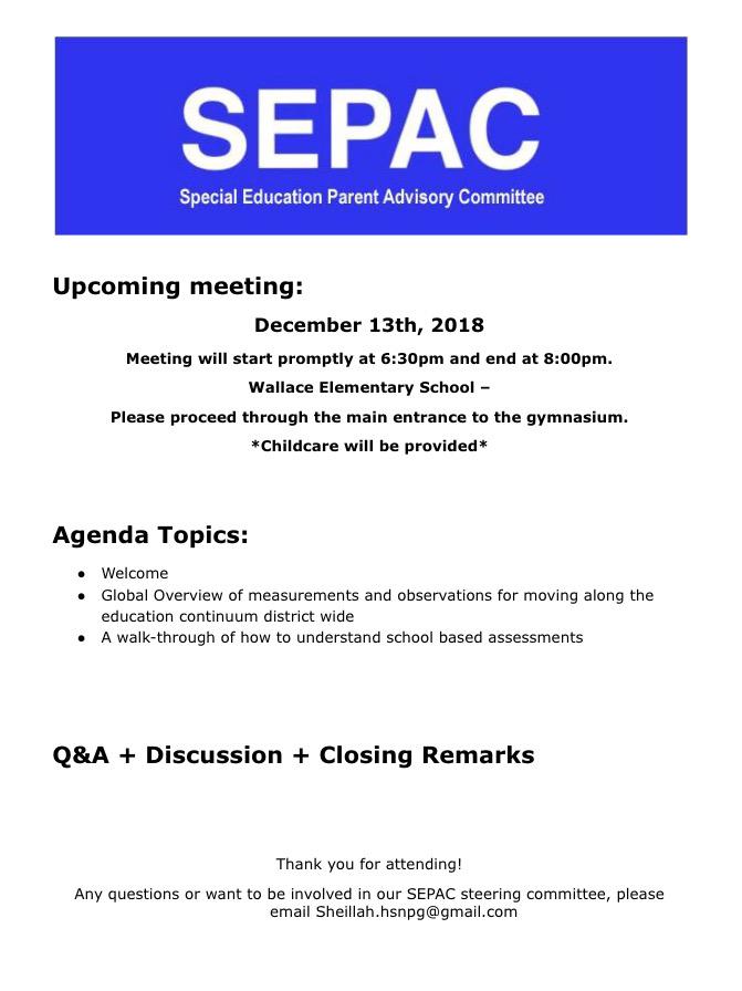 SEPAC - December 18